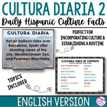 Cultura Diaria 2 - ENGLISH Version