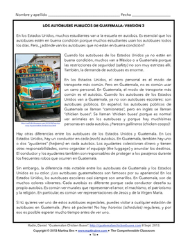 Cultural Activities: Central American Chicken Buses