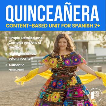 Cultural Activities: La quinceañera embedded reading plus ser vs. estar