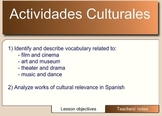 Spanish Vocabulary for Cultural Activities (film, music, a