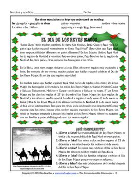Cultural Activities: Tradiciones de la Navidad