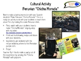 "Cultural Activity for Spanish Students! Peruvian ""Chicha Morada"""