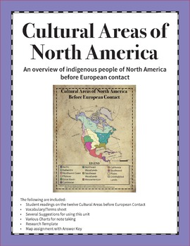 Cultural Areas of North America Before European Contact