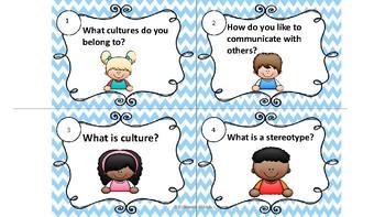 Cultural Awareness Task Cards