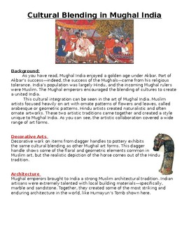 Cultural Blending in Mughal India Worksheet