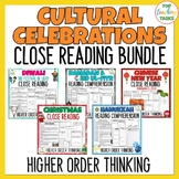 Cultural Celebrations Reading Comprehension Passages & Question Bundle