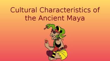 Cultural Characteristics of the Ancient Maya Pack