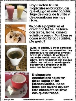 Cultural Corner: Comida y bebida ecuatoriana