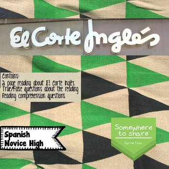 Cultural Corner: El Corte Inglés