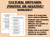 Cultural Diffusion - Positive or Negative? - Global/World History Review