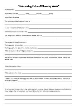 Cultural Diversity Week Class Survey