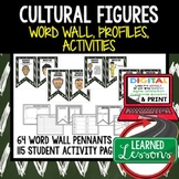 Cultural Figures Word Wall, Profiles & Activity Pages (History) Google Digital