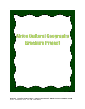 Cultural Geography Project: Africa