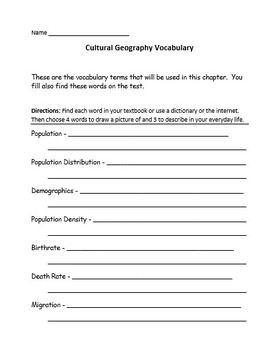 Cultural Geography Unit
