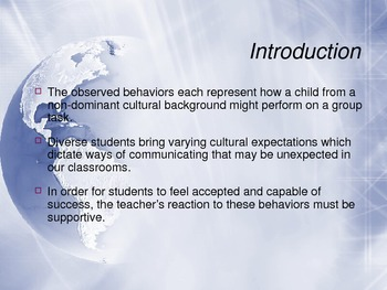 Cultural Groups and Identity (Professional Development Presentation)