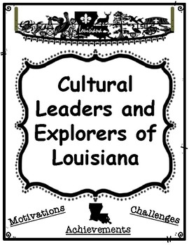 Cultural Leaders and Explorers of Louisiana Research Graphic Organizers