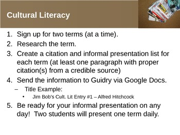 Cultural Literacy (PowerPoint)