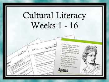 Cultural Literacy: Weeks 1-16 - Allusions, Greek/Latin Roots, Logical Fallacies