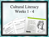 Cultural Literacy: Weeks 1-4 - Allusions, Greek/Latin Roots, Logical Fallacies