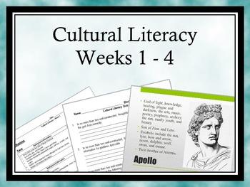 Cultural Literacy: Weeks 1-4 - Allusions, Greek/Latin Root
