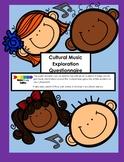 Cultural Music Exploration Questionnaire and Lesson Plan
