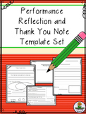 Performance Reflection and Thank You Note Set