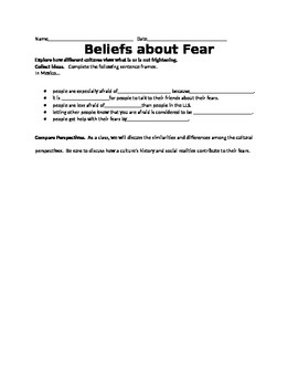 Cultural Perspectives about Fear