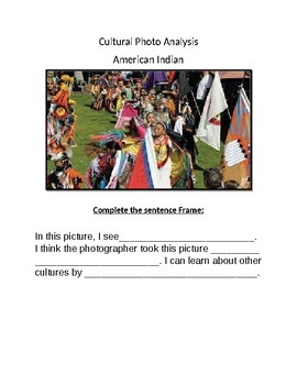 Cultural Photo Analysis- American Indians