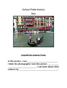 Cultural Photo Analysis- Italy