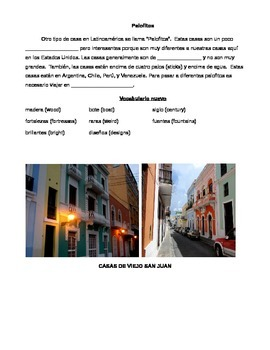 Cultural Reading: Casas del mundo hispano