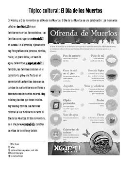 Cultural Reading - Día de los Muertos