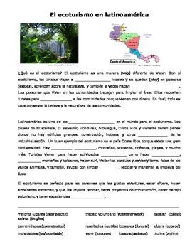 Cultural Reading: El ecoturismo en latinoamérica