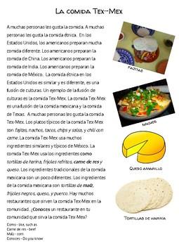 Cultural Reading-La comida Tex-Mex