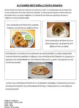 Cultural Reading-La comida del Caribe y Centroamérica