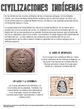 Cultural Reading - Las Civilizaciones Indígenas