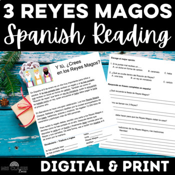 Cultural Reading: Los Reyes Magos (for Christmas in Spanish class)