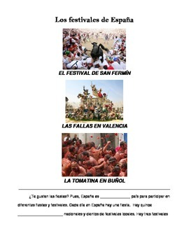 Cultural Reading: Los festivales de España