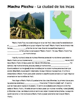 Cultural Reading: Machu Picchu
