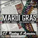 Mardi Gras Activities | French High-Frequency Verb Reading
