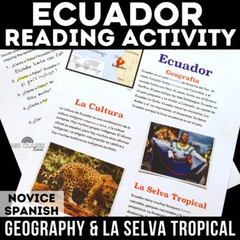 Cultural Reading: Ecuador -  Geography & La selva tropical