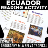 Cultural Reading: Ecuador -  Geography & La selva tropical