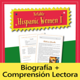 Cultural Reading: Notable Hispanic Women I (Spanish)