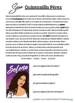 Cultural Reading Selena Quintanilla Perez