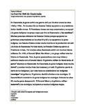 Cultural Reading-la Guerra Civil en Guatemala