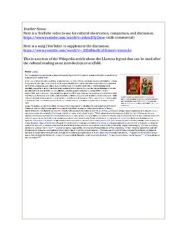 Cultural Reading-la Llorona