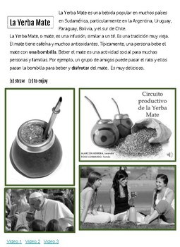 Cultural Reading-la yerba mate