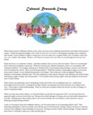 Cultural Research Paper