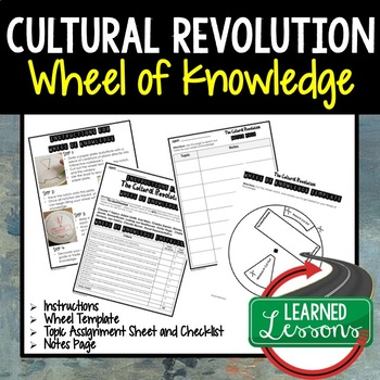 Cultural Revolution Activity, Wheel of Knowledge (Interactive Notebook)