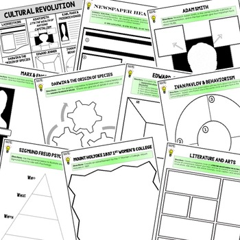 Cultural Revolution Choice Board Activities (Paper and Google) World History
