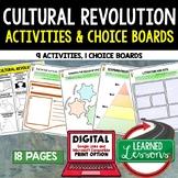 Cultural Revolution Activities, Choice Board, Print & Digital, Google